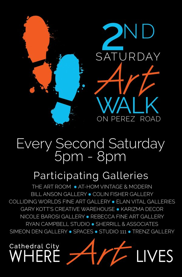 2nd Saturdays Art Walk on Perez Road - June 10 - 5 pm to 8 pm