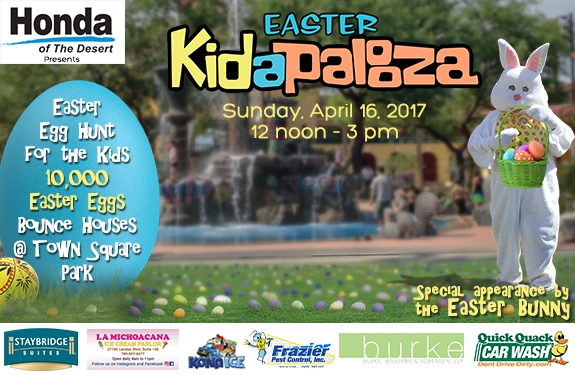 Easter Kidapalooza - 10,000 Easter Eggs - April 16 - Cathedral City