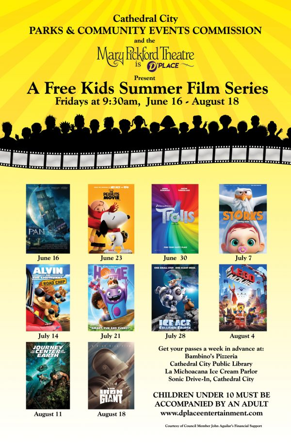 Free Kids Summer Film Series