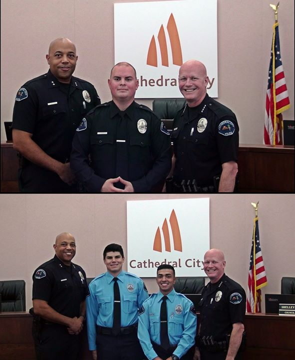 1 New Police Officer and 2 New Police Cadets Join Cathedral City Today