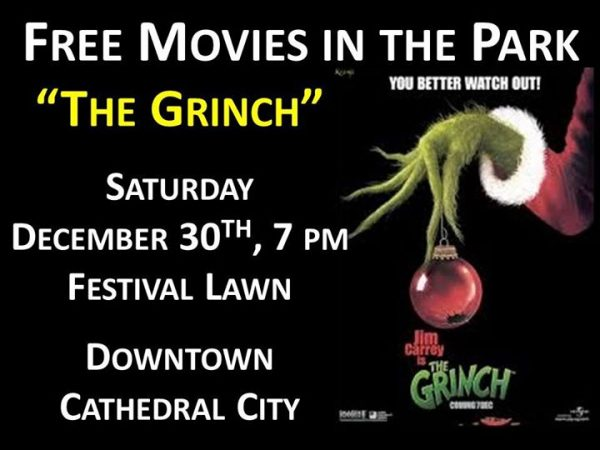 """""""The Grinch"""" - Movies in the Park – December 30th"""