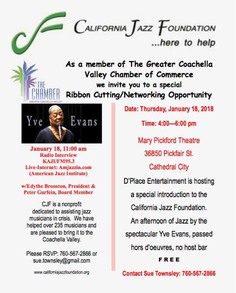 California Jazz Foundation Chamber Ribbon Cutting and Networking