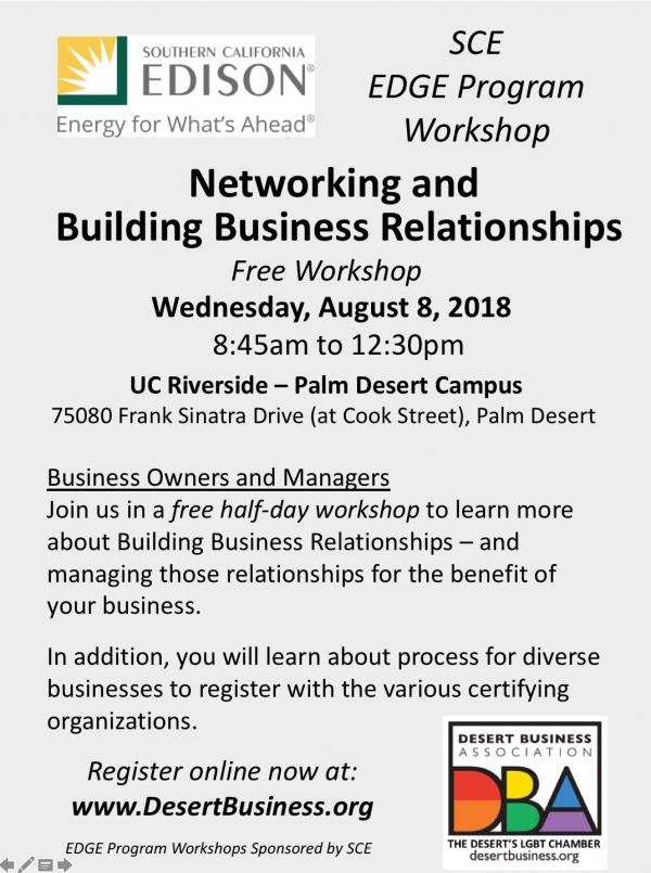 "Free Workshop on ""Networking and Building Business Relationships"""