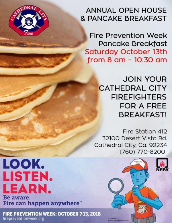 Cathedral City Fire Department's Annual Open House & Pancake Breakfast