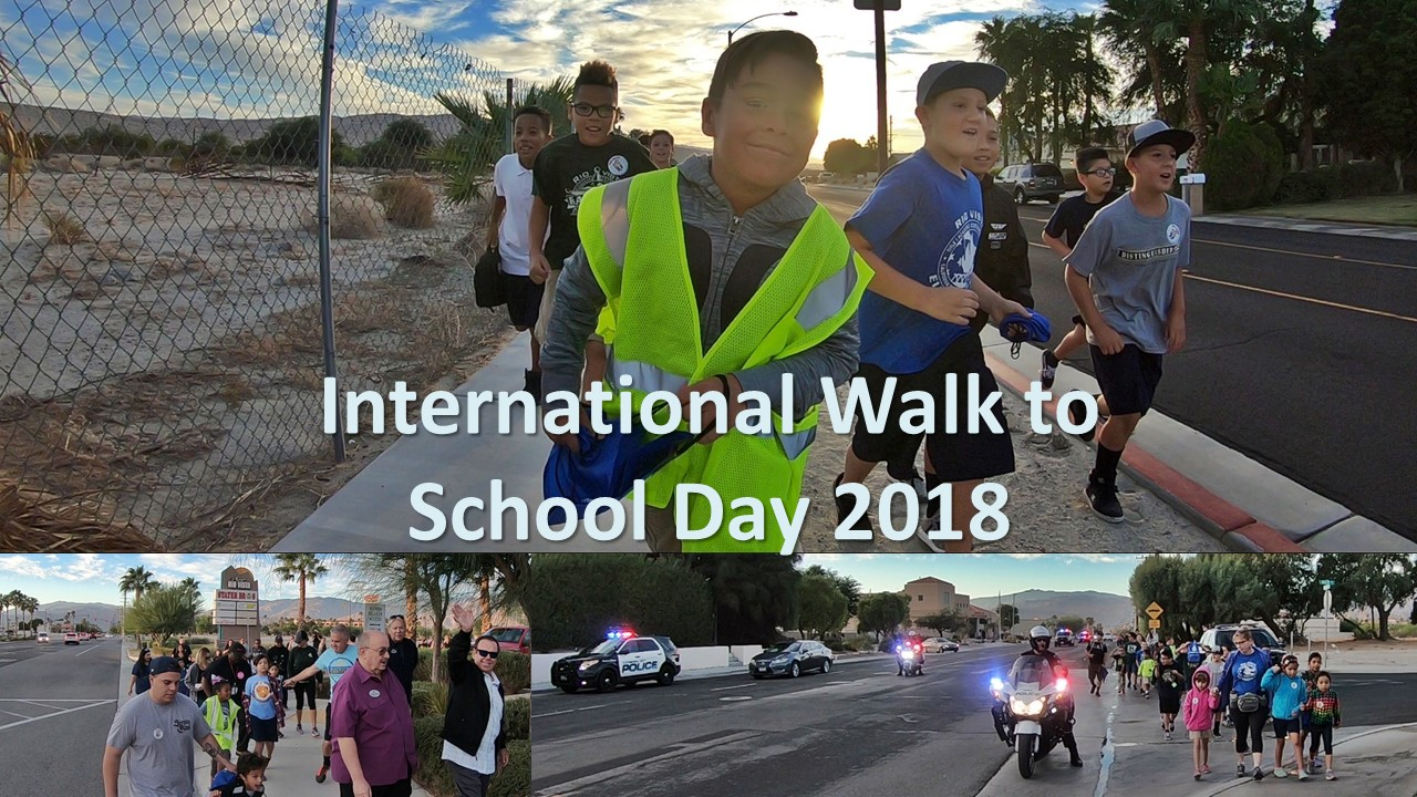 International Walk to School Day in Cathedral City