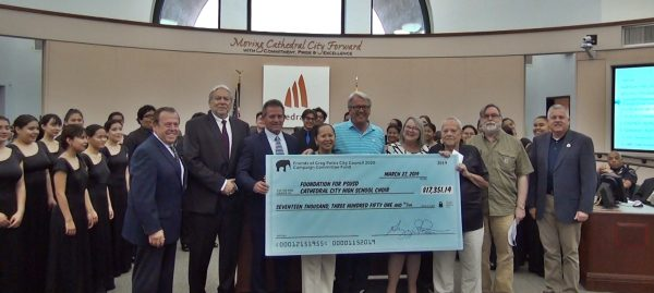 The Late Mayor Gregory Pettis Donates His Campaign Funds to the Cathedral City High School Choir