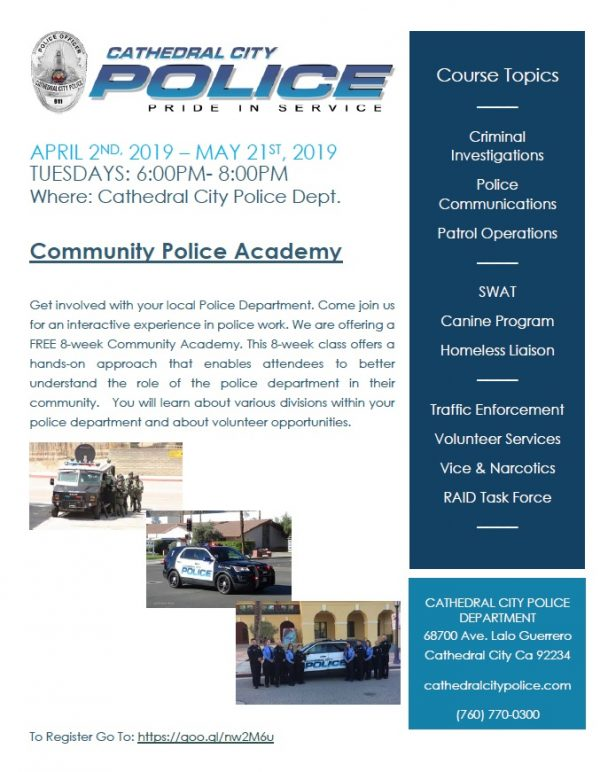 Free Community Police Academy – Register Now