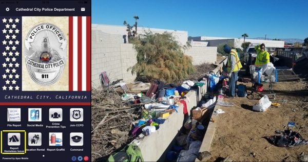 "New ""Homeless"" Button on Cathedral City Police Department App"