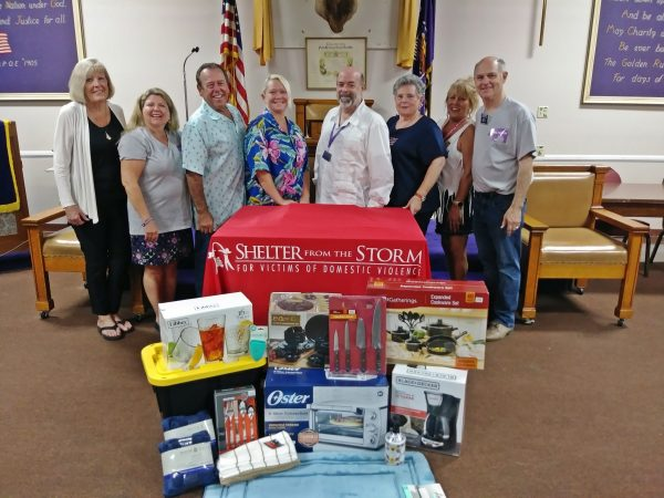 Palm Springs Elks Lodge Donates Supplies to Shelter from the Storm