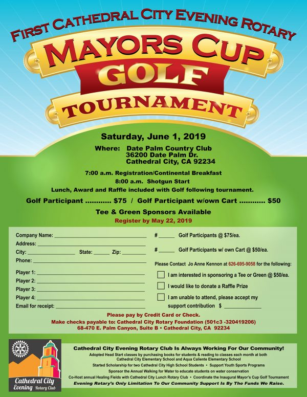 A Few More Slots Open for the Inaugural Mayor's Cup Golf Tournament