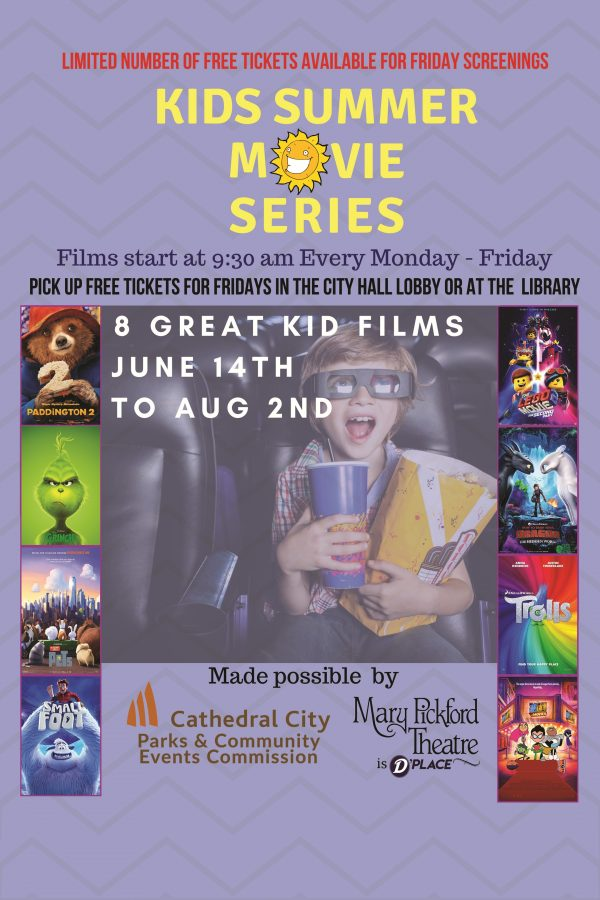 Kids Summer Movie Series Happens June 10th – August 2nd