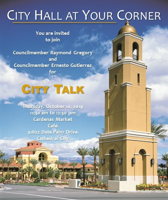 City Hall at Your Corner - October 10th